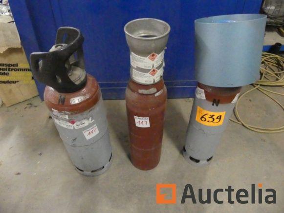3 AirLiquide-Acetylenflaschen