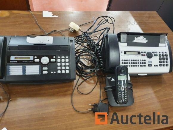 Viele Telekommunikationsgeräte (Fax, Anrufbeantworter, Telefon)