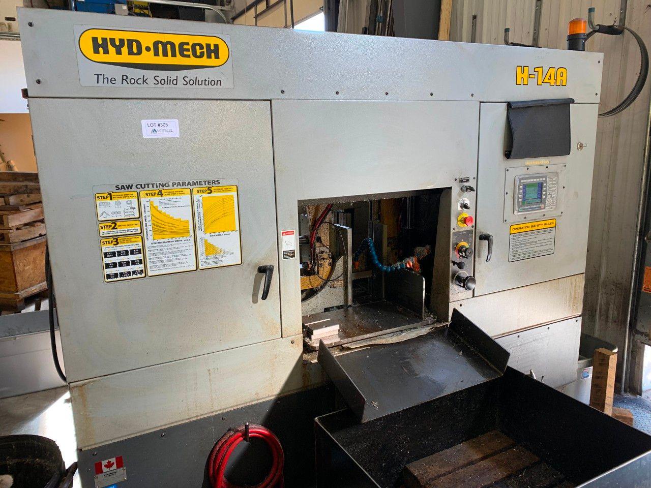 Hyd-Mech H-14A Horizontal-Doppelständer-CNC-Bandsäge mit Rollentisch