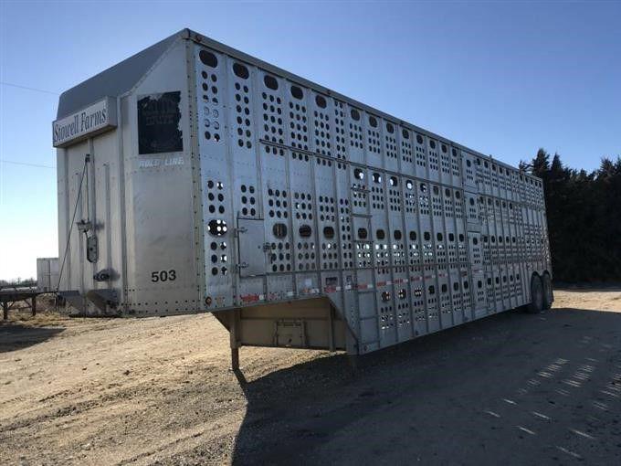 1993 Merritt Cattle Drive T / A Viehtransportanhänger