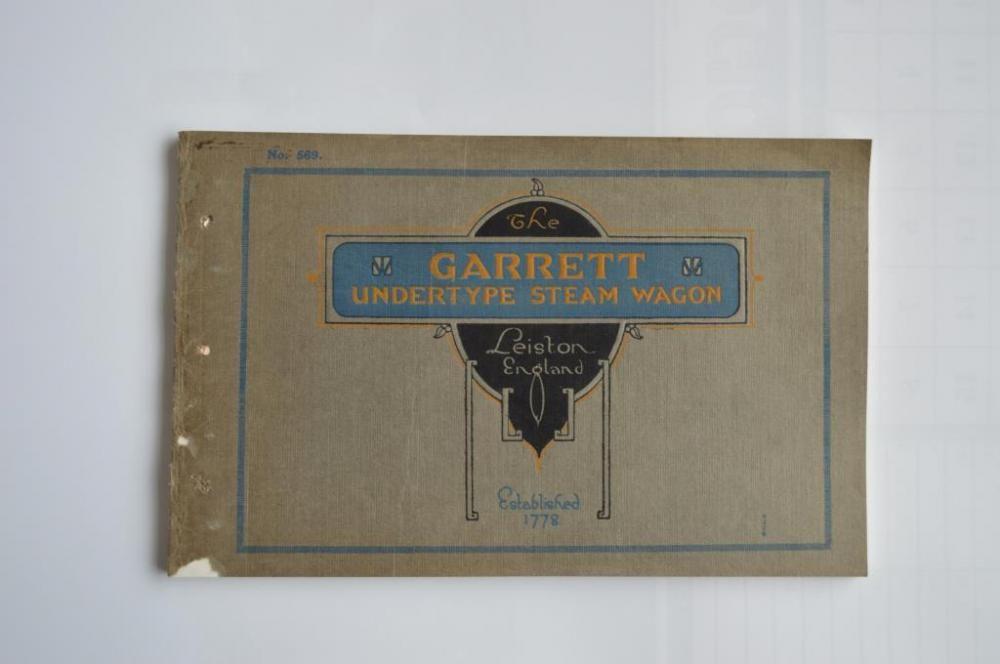 Garret Undertype Dampfwagen Katalog, Nr. 569