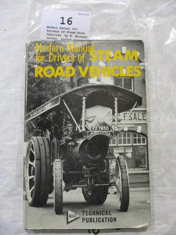 Modernes Handbuch für Fahrer von Dampfstraßenfahrzeugen, von W. Michael Salmon, signierte Kopie
