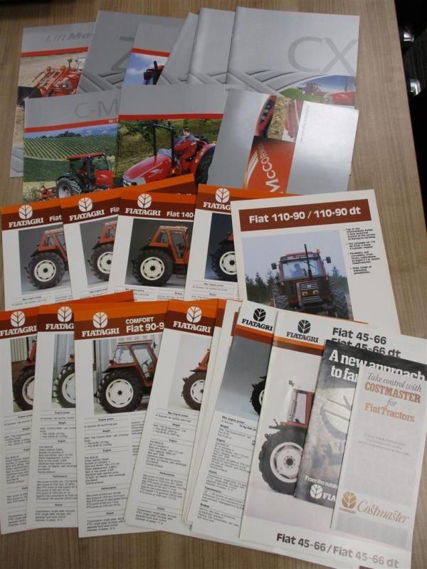 McCormick und Fiat Agri Traktoren Broschüren, Flyer etc