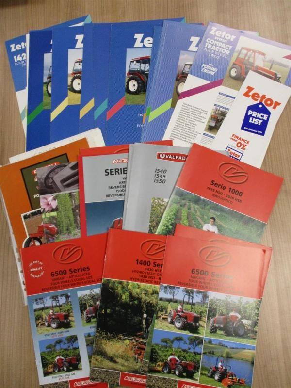 Zetor & Valpadana Traktor Broschüren, Flyer etc