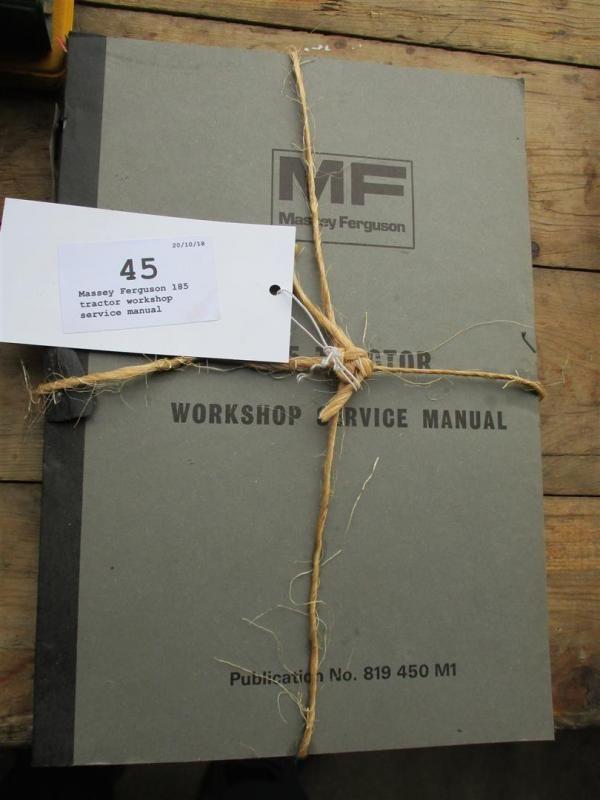 Massey Ferguson 185 Werkstatt Werkstatthandbuch