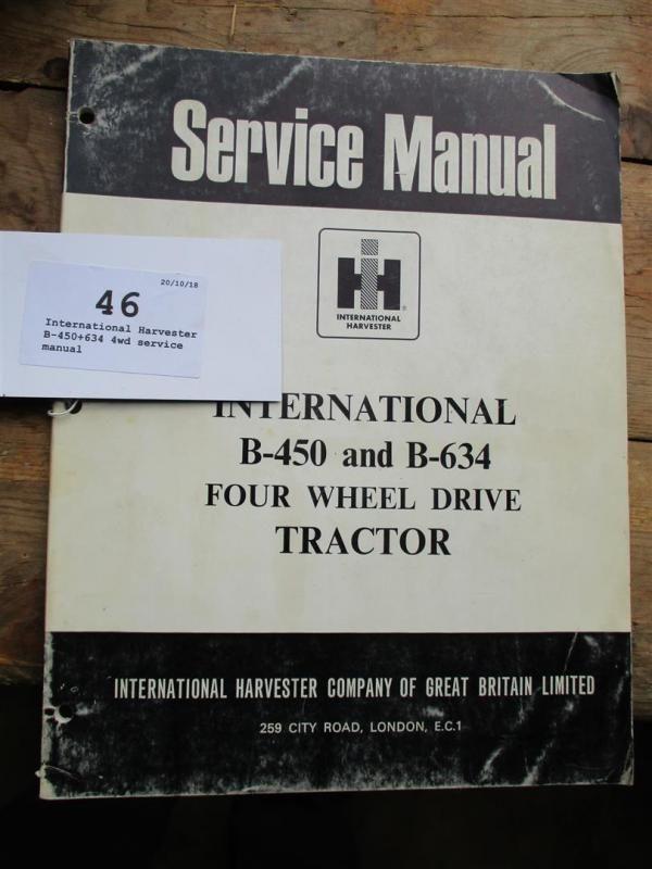 International Harvester B-450 + 634 4wd Wartungshandbuch