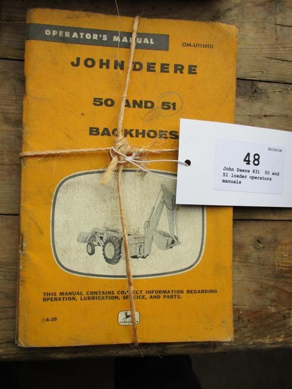 John Deere 831, 50 und 51 Lader Bedienungsanleitung