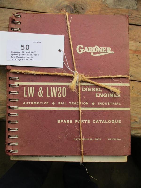 Gardner LW und LW20 Ersatzteilkatalog t / w Cummins Teilekatalog für 743er Serie