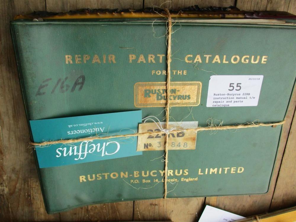 Ruston-Bucyrus 22RB Bedienungsanleitung Reparatur und Teilekatalog