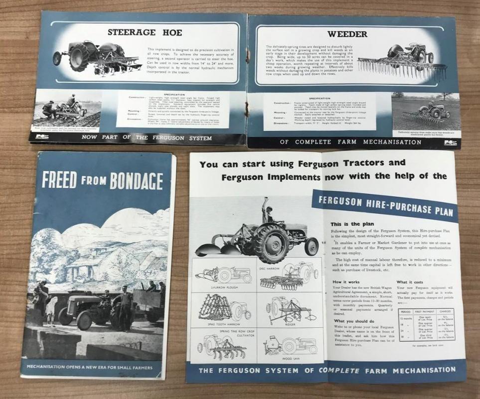 Ferguson System Farm Mechanization Broschüre, Kauf Mietplan Broschüre und befreit von Bondage, von J