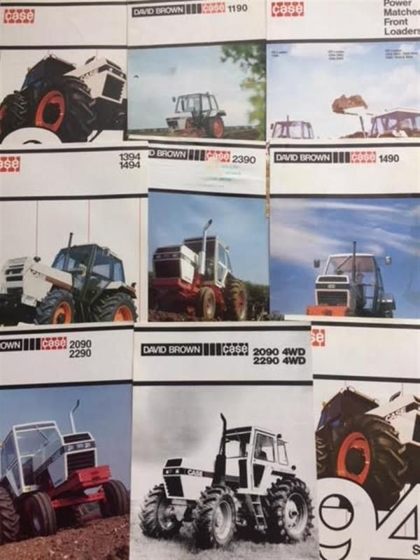 Case David Brown Traktor Broschüren