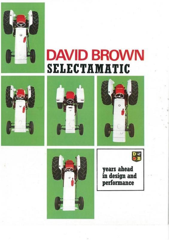David Brown Selectamatic Traktor-Broschüre