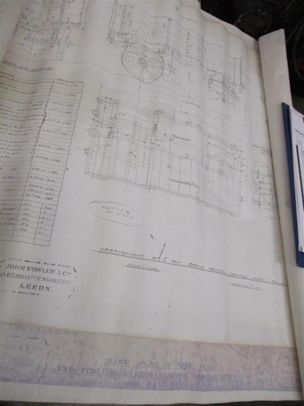John Fowler & Co Leeds, 5tonne Federzug Zugmaschine Zeichnung t / w 1936 arbeitet Baustellenpläne