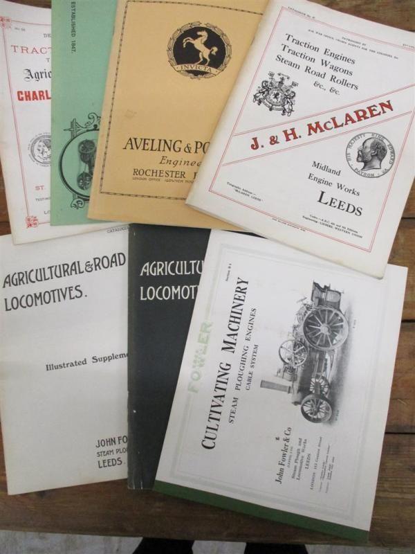 RLS Nachdruck Kataloge, Burrell, Allchin, Aveling & Porter, McLaren t / w 3 Fowler Nachdrucke