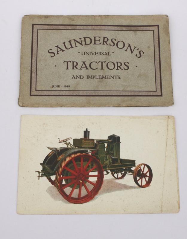 Saunderson Universal Traktor und Gerät Verkaufskatalog Juni 1919 mit Traktor Farbschild (2)