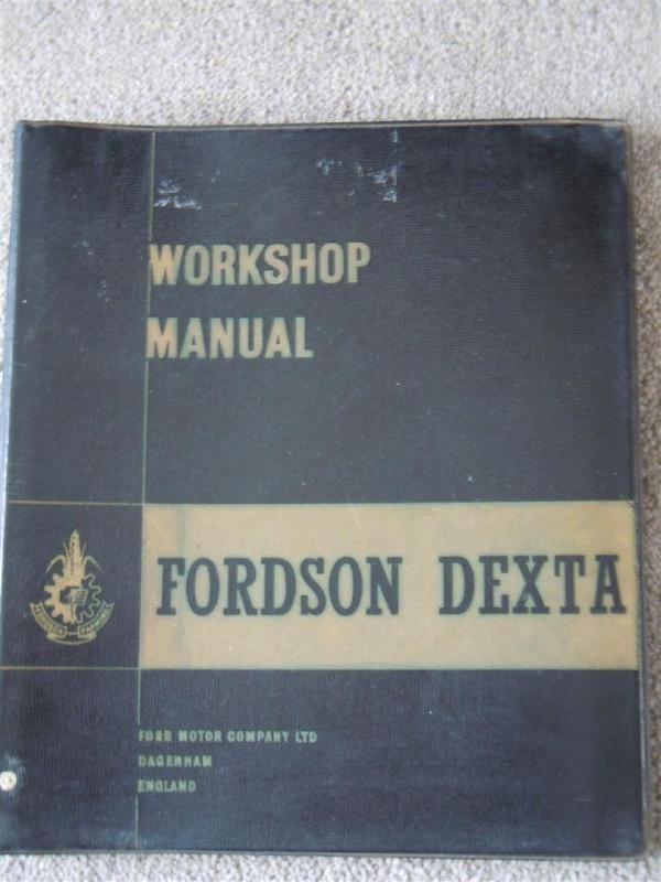 Original Fordson Dexta Werkstatthandbuch, Januar 1958