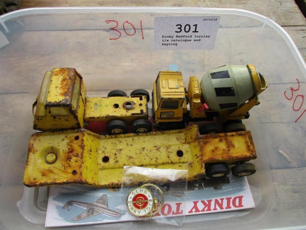 Dinky Bedford Lastwagen t / w Katalog und Schlüsselring