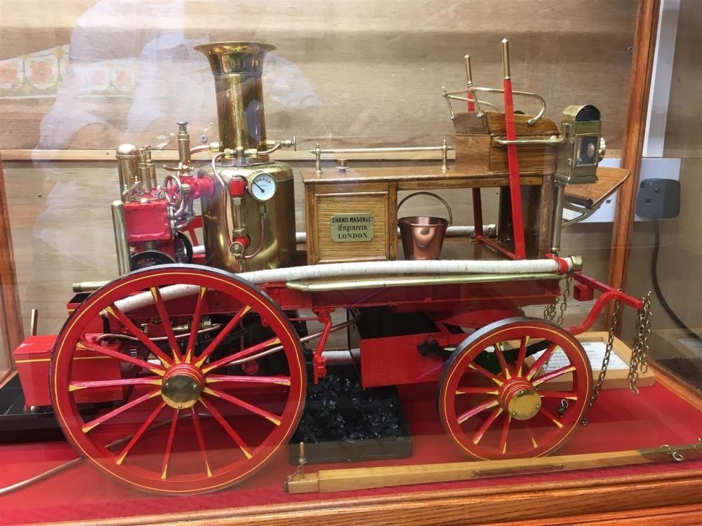 Shand Mason 1.5ins Maßstab Pferd gezogen Feuerwehrwagen. Es ist mit einem Kesselzertifikat versehen,