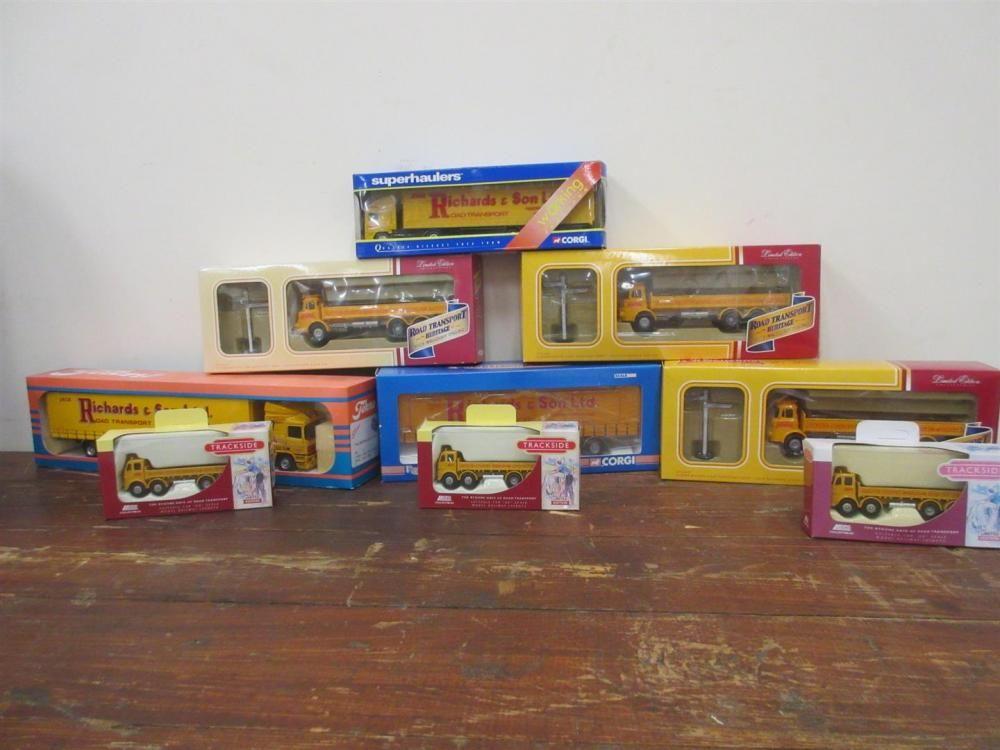 Verschiedene Jack Richards Road Transport Modelle von Corgi, Lledo etc (9 boxed)