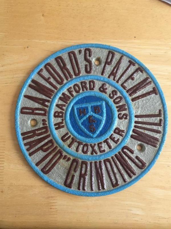 Bamford-Plakette, in ausgezeichnetem Zustand angegeben