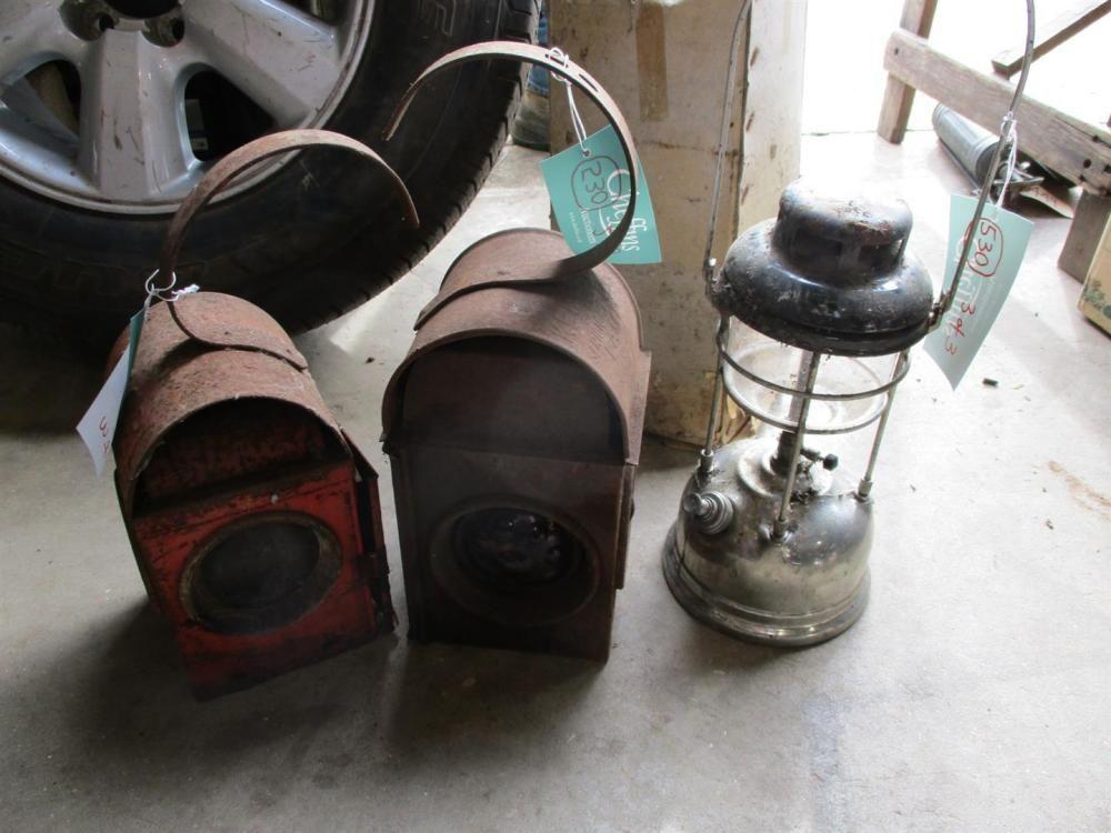 Road Mender Paraffin rote Lampen (2)