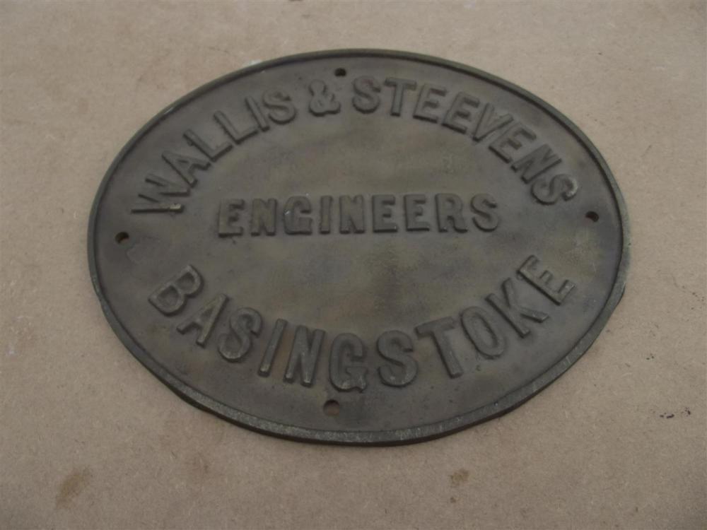 Brass Wallis & Steevens, Ingenieure, Basingstoke Platte