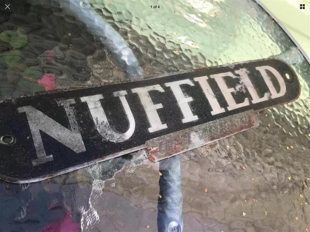 Nuffield Traktorabzeichen