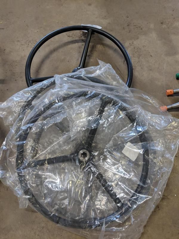4 Nr. Lenkräder für Fordson Major