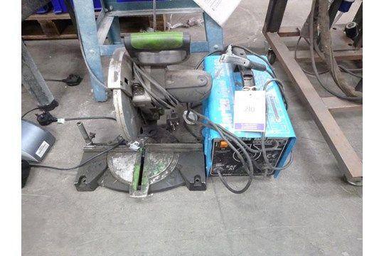 Evolution Gehrungssäge & amp; Clarke 160 ARC Schweißer 240V
