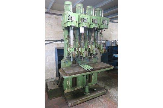 Pollard Modell 150A / 4 Vierkopf-Säulenbohrer