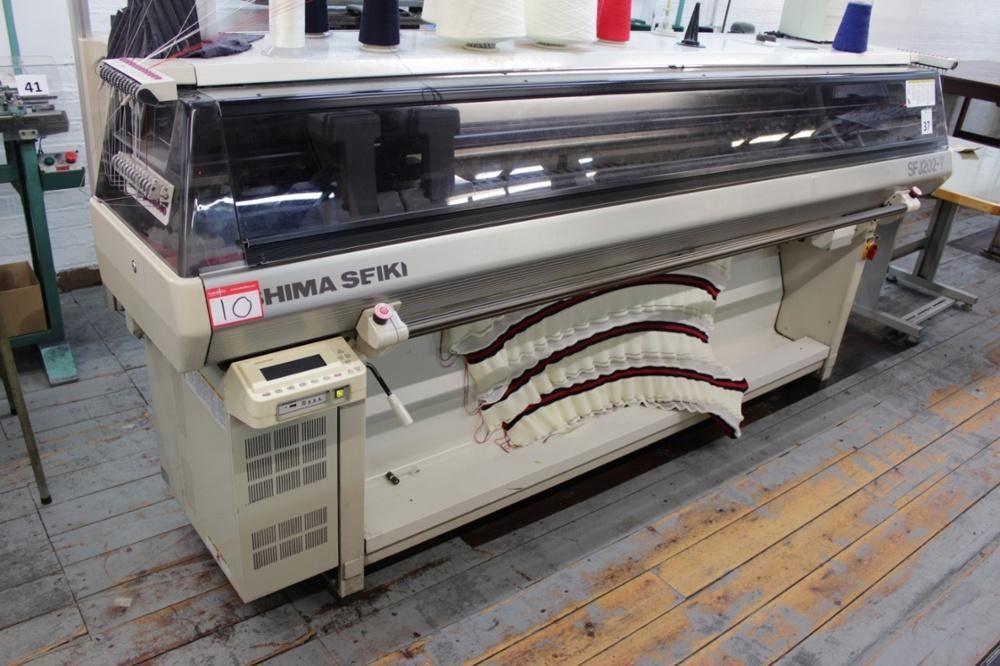 Shima Seiki SFJ202-T Computerized 7 Gauge máquina de tejer plana