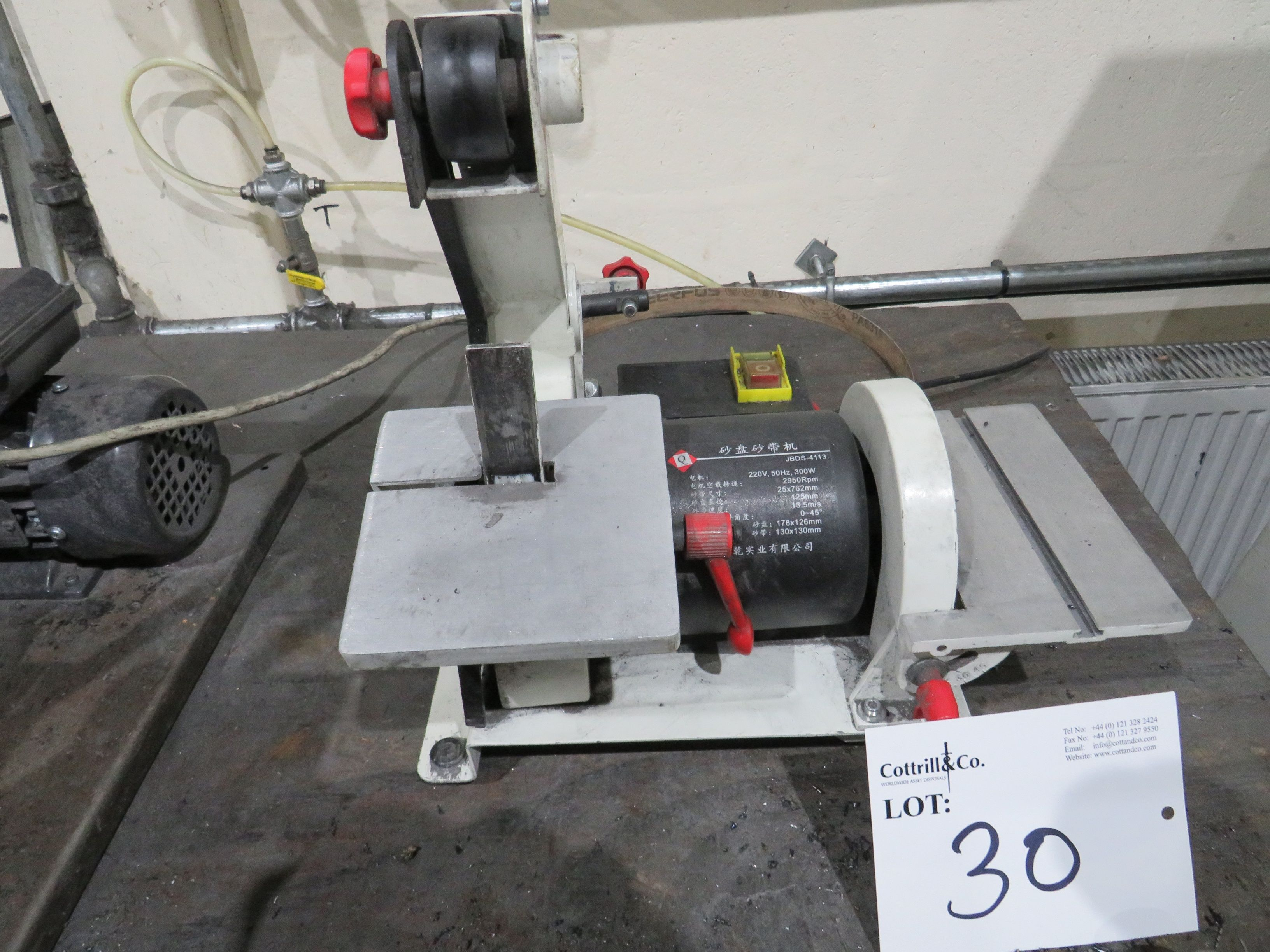1-Zoll-Vertikalgurtlinisher mit 6-Zoll-Disc