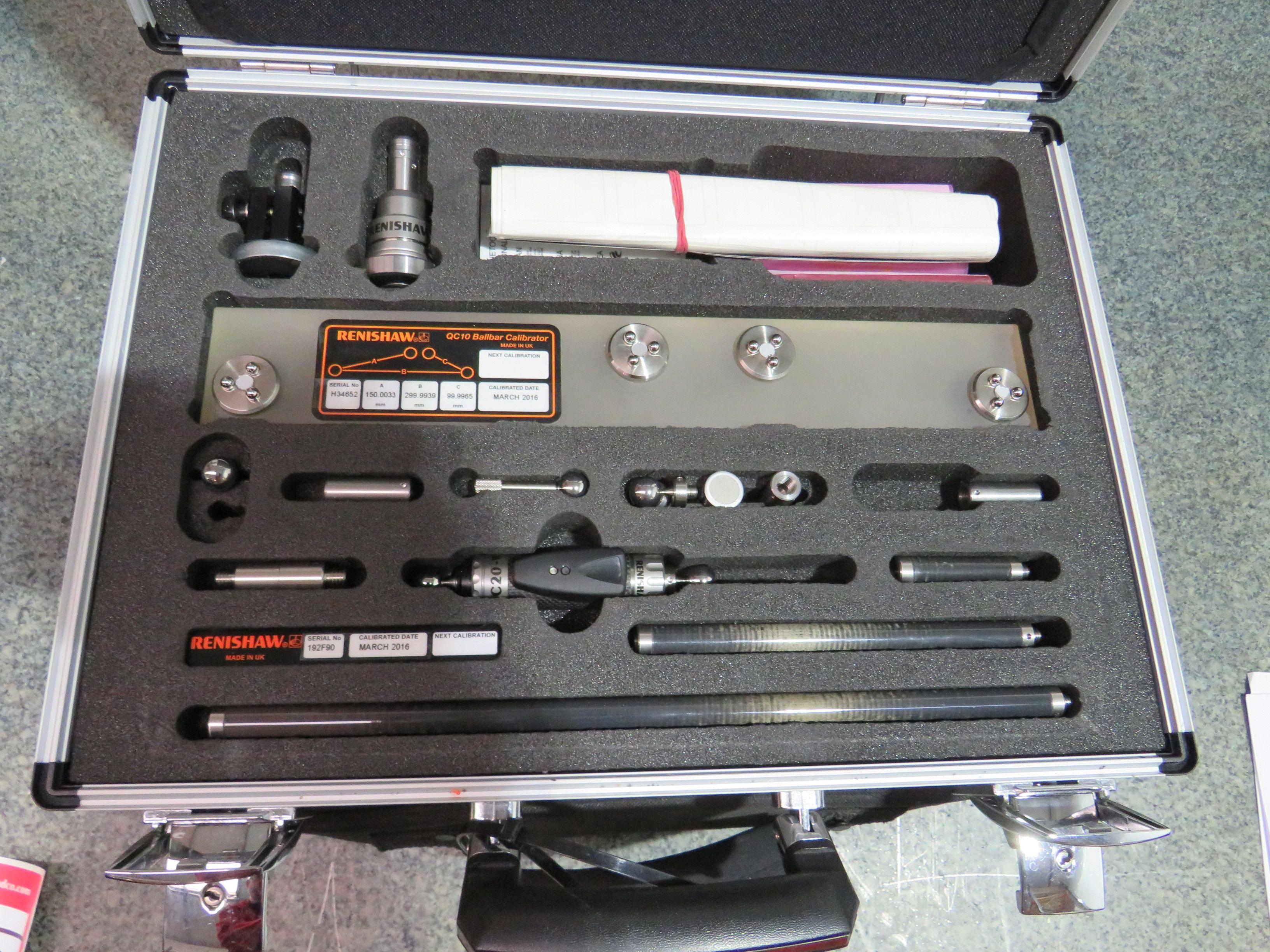 Renishaw QC20-W Kugelstange mit Laptop