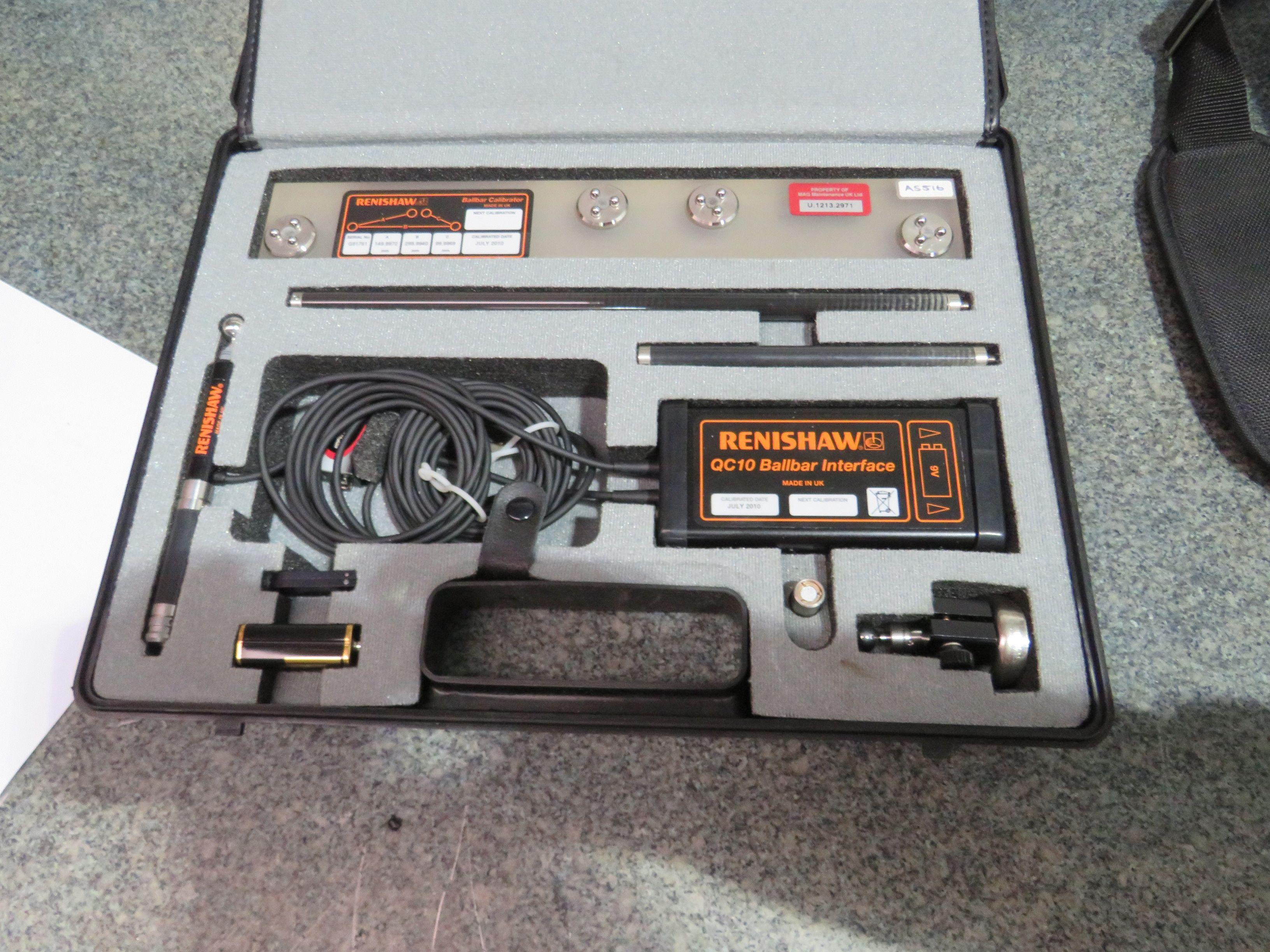 Renishaw QC10 Kugelstange mit Laptop
