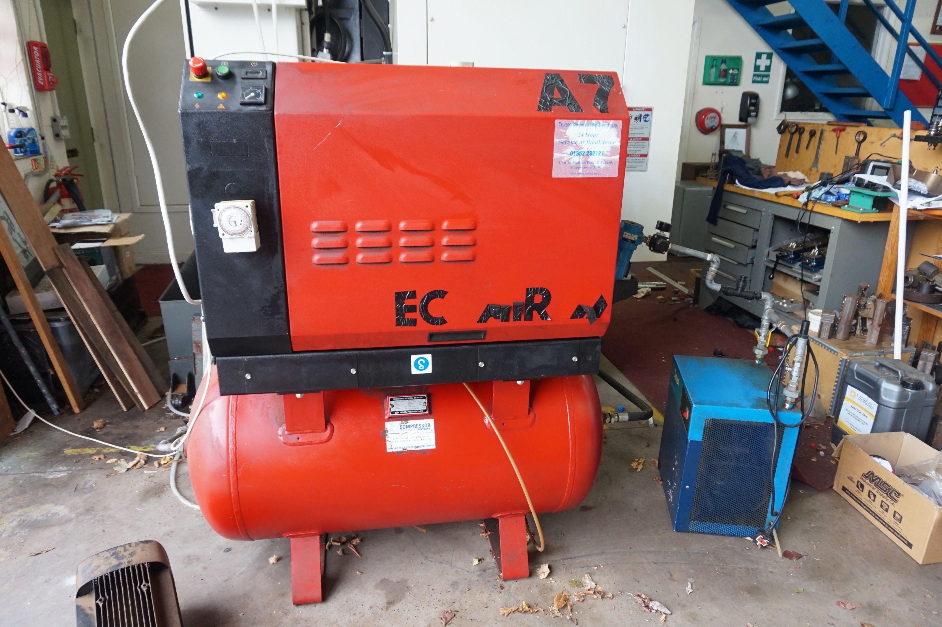 Ecoair A7 Empfänger montiert Kompressor
