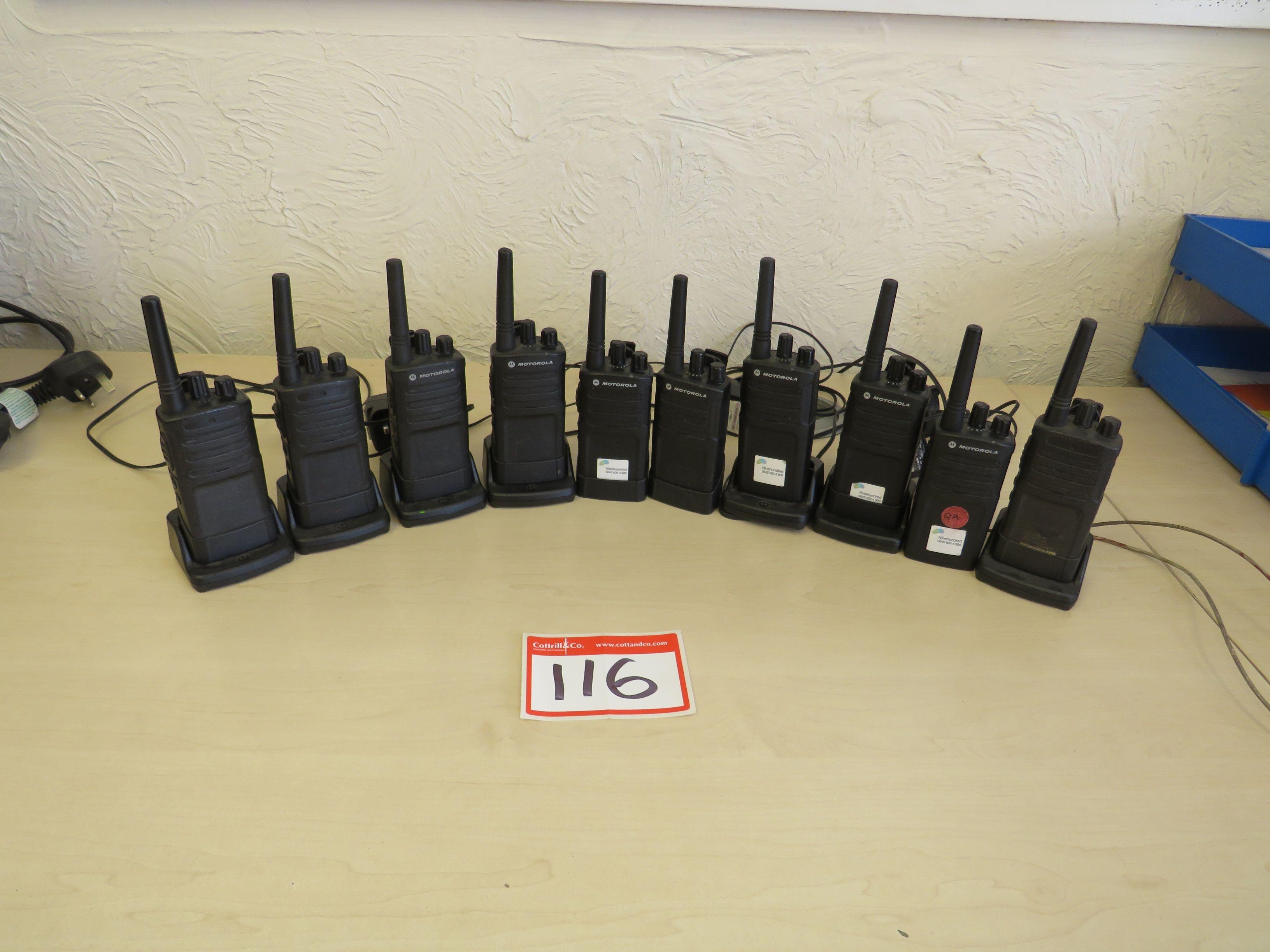 (10) Motorola Model XT420 Funkgeräte