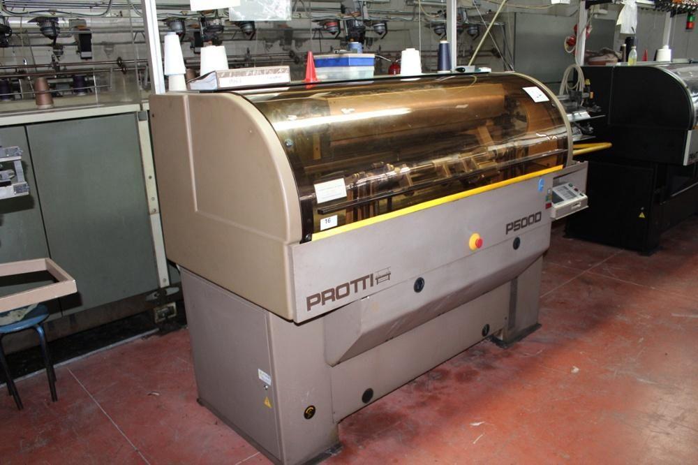Protti Modell P500 D Flachbettstrickmaschine