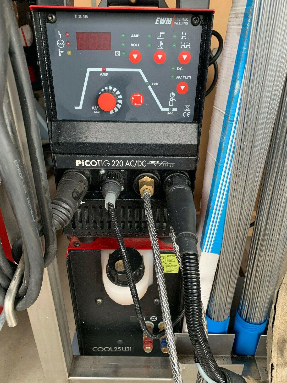 EWM PICOTIG 220 AC / DC WIG Schweißgerät mit COOL 25U31 Wasserkühleinheit ; Top!
