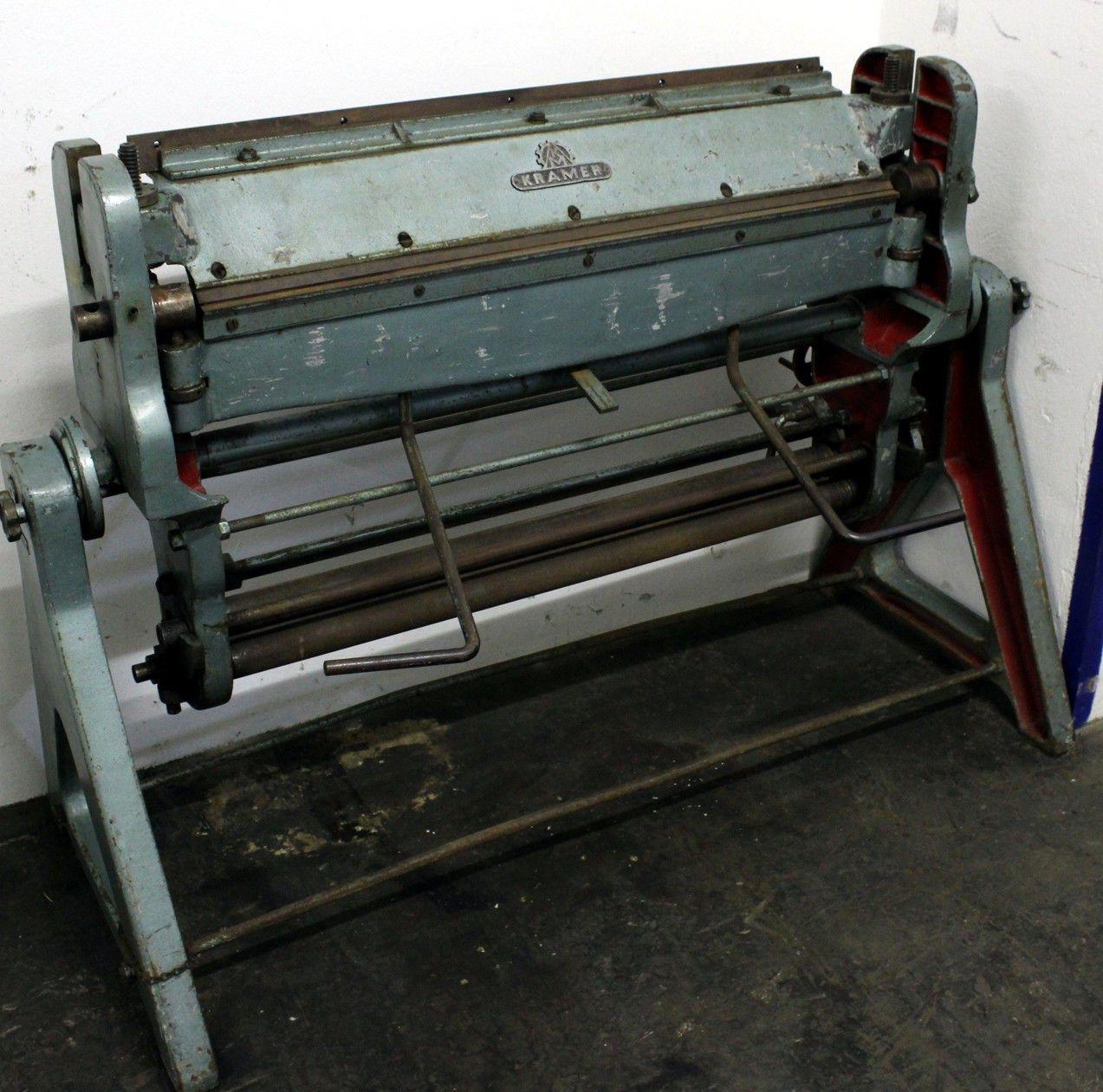 Kombinierte Schwenkbiege-, Falz-, Rund- und Wulstmaschine von KRAMER