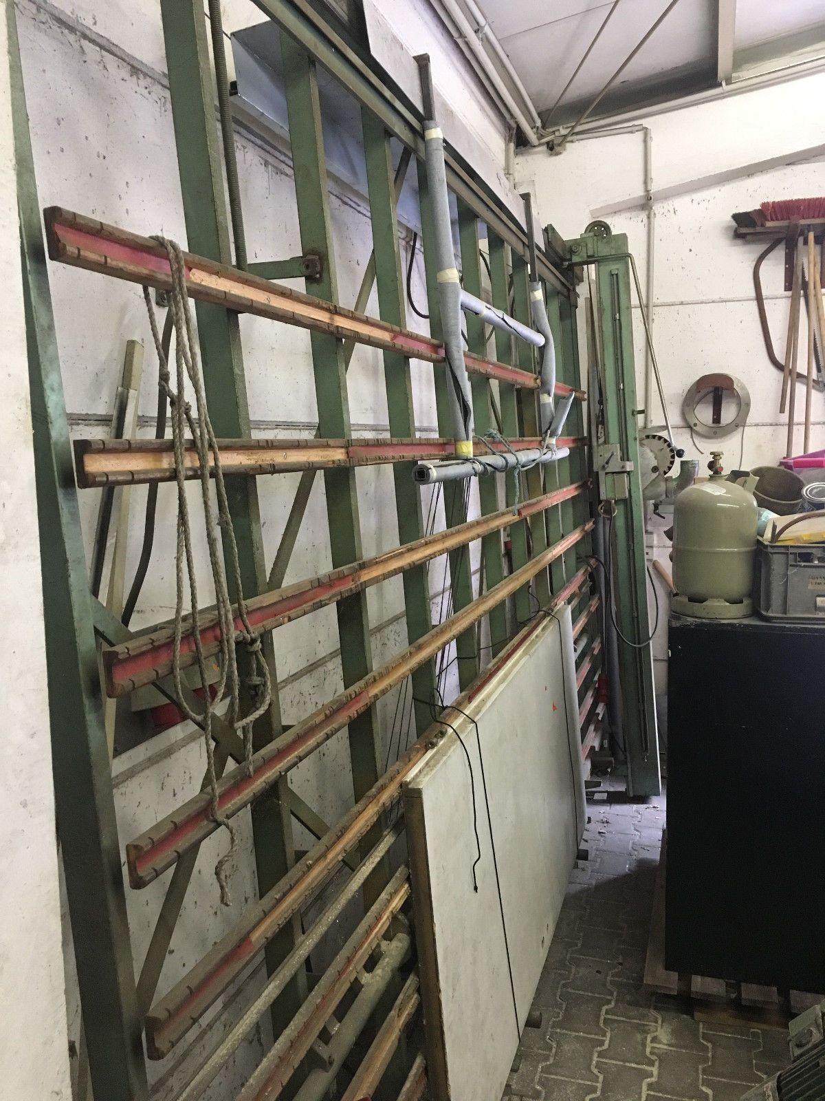 Gebrauchte Vertikale Plattensäge, Plattenaufteilsäge, Säge, Holzsäge, ca.4mx3m