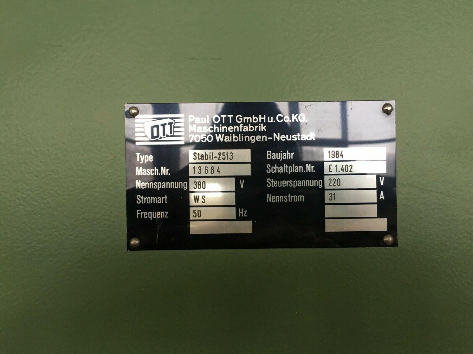 Furnierpresse OTT 2550x1350 Stabil-2513 voll funktionsfähig