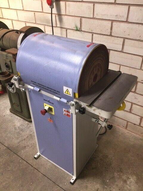 BERNADO Doppeltellerschleifmaschine CB 400 D für Holz & Metall mit elektr Bremse