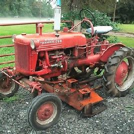 "1949 INTERNATIONAL FARMALL CUB TRACTOR W/ 60"" BELLY MOWER RUNS GREAT!"