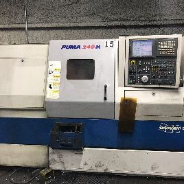 Used Daewoo Doosan Puma 240-MC CNC Turning Center Lathe Fanuc 21iTB Tailstock 06