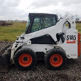 2005 Bobcat S185 skid steer loader, Cab w/ Heat, Sticks and Pedals, 2,509 hours