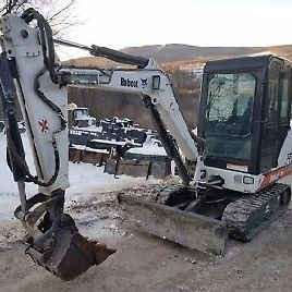 BOBCAT 331 EXCAVATOR 1719 HOURS CAB A/C HEAT EXTENDAHOE! READY 2 WORK IN PA!