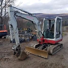 TAKEUCHI TB135 EXCAVATOR ENCLOSED CAB NICE! READY 2 WORK IN PA WE SHIP!