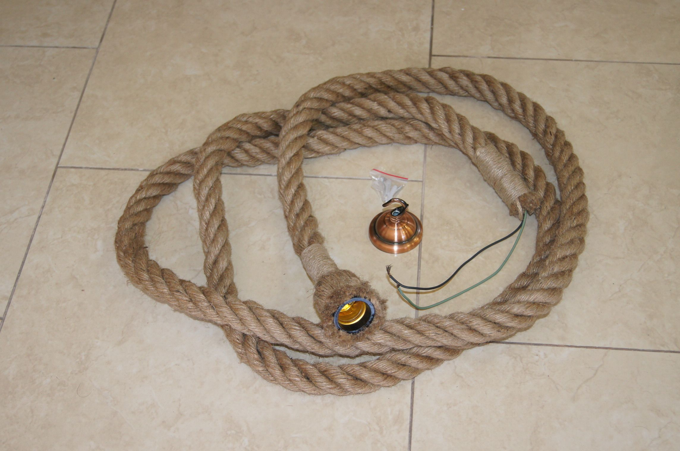1 Einheit Натуральная камуфляжная веревка Lampe 3 м + Deckenfuß (новый)