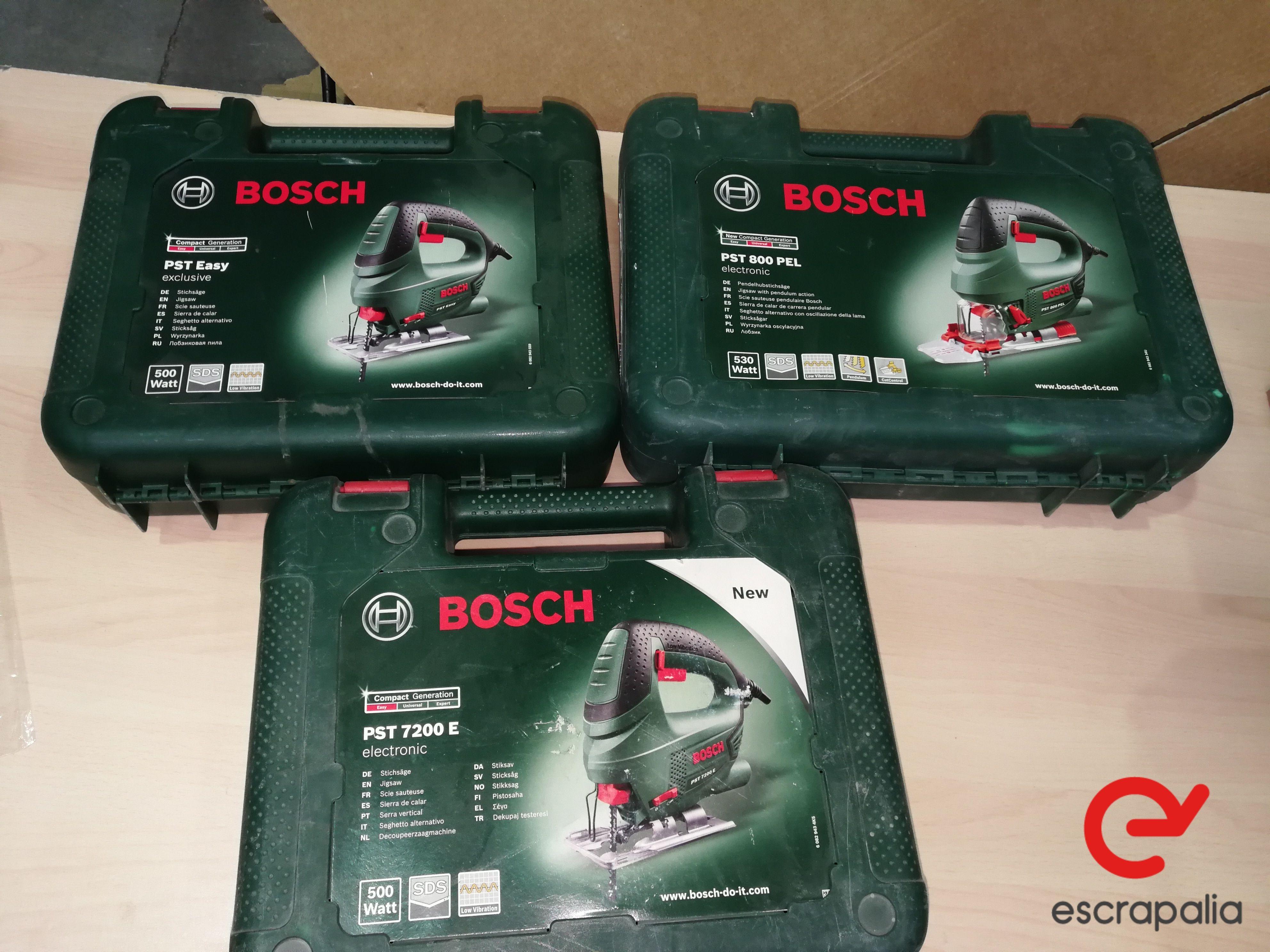 Drei Sägen mit Pendelzug Bosch Modell PST easy. Lot 026