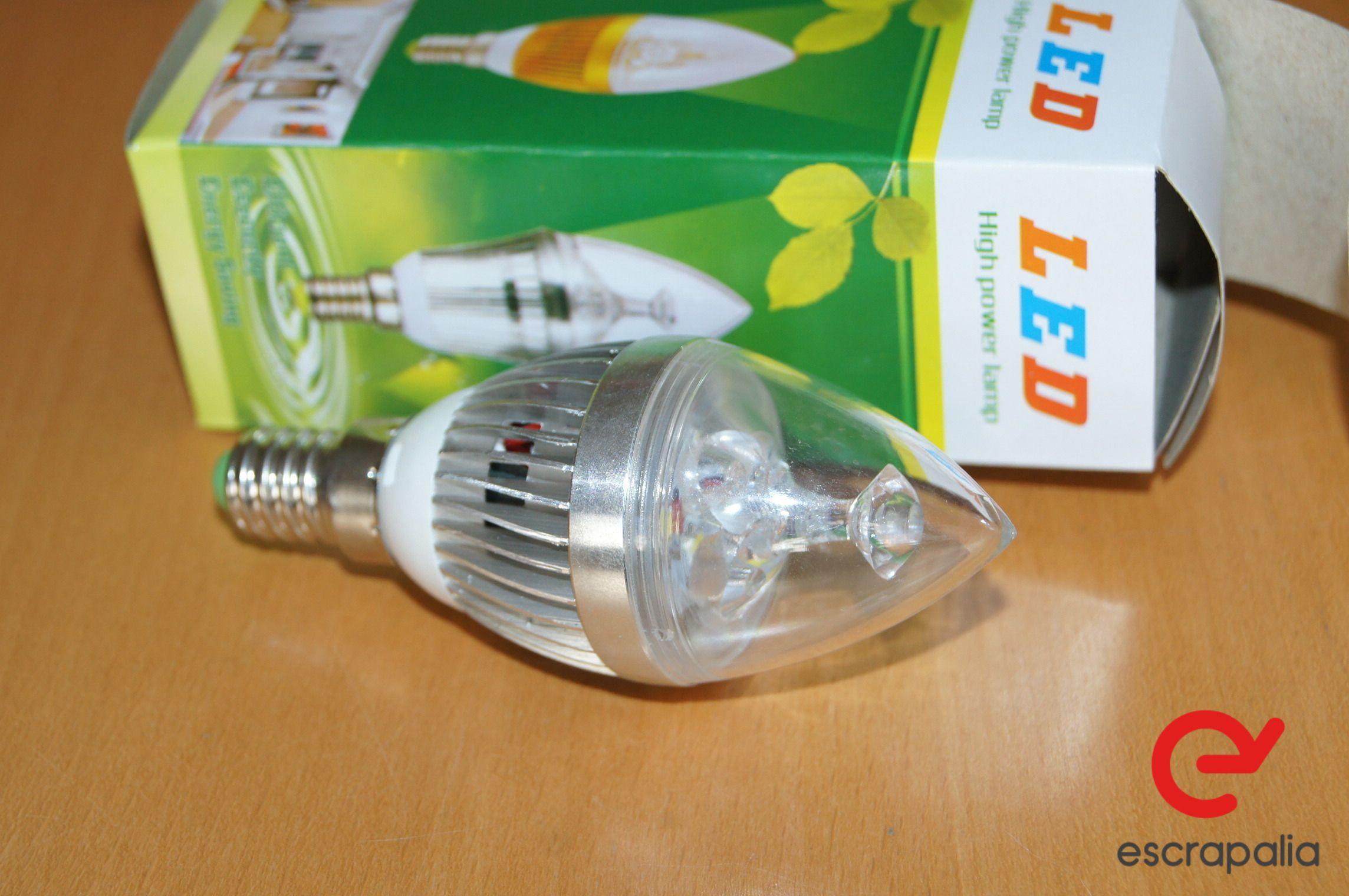 50 Einheiten LED Birne E14 3W Aluminium Kühlkörper Kerze (Neu)